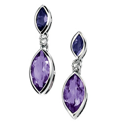 Gemstones Amethyst Earring