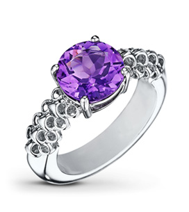 Gemstones Amethyst Ring