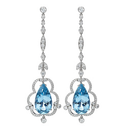 Gemstones Aquamarine Earring