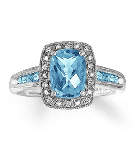 Gemstones Aquamarine Ring