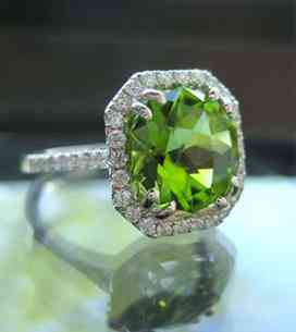 Gemstone Peridot Ring