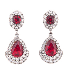 Gemstones Ruby Earring