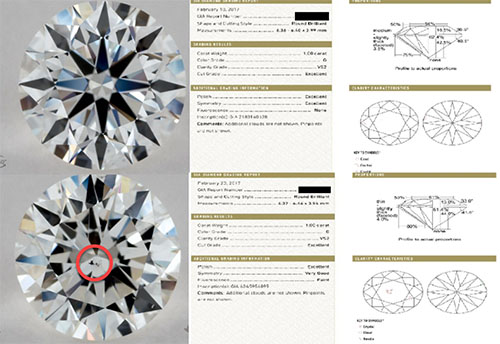 Similar Diamond Comparison | Luisa Graff Jewelers Colorado Springs